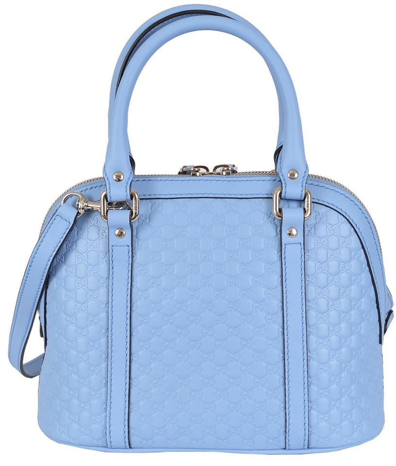 e73770382658 Gucci New 449654 Micro Gg Convertible Purse Blue Leather Cross Body ...