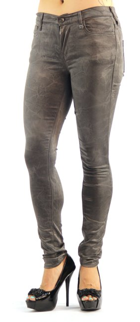 Item - Charcoal Light Wash Mid Rise Stretch Jegging Pants Skinny Jeans Size 31 (6, M)