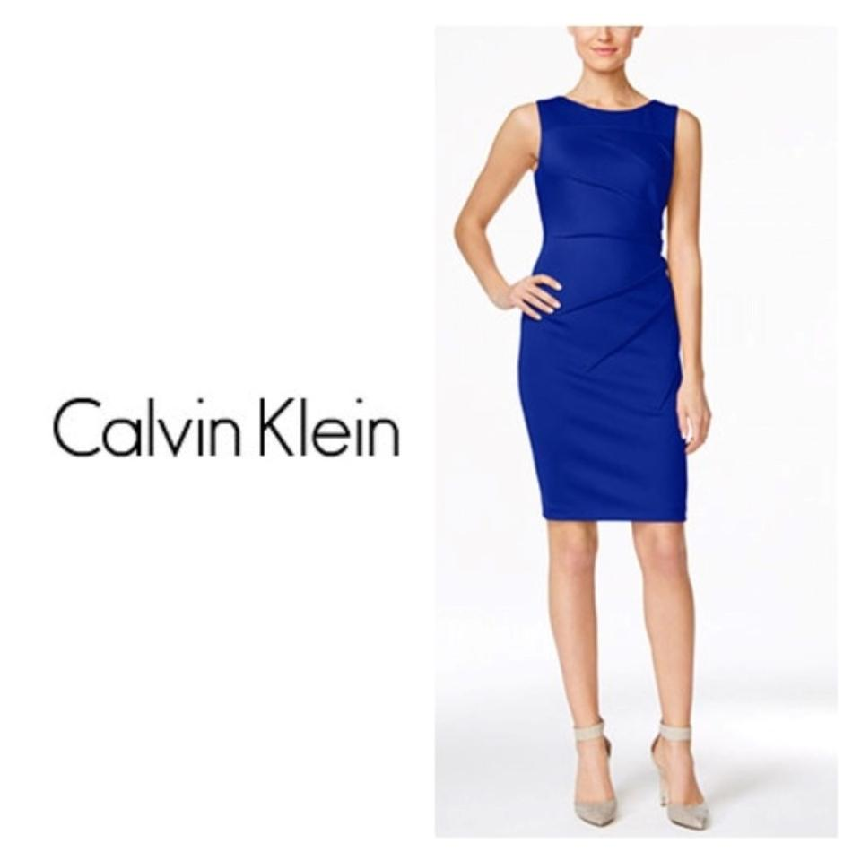 Calvin Klein Sleeveless Sunburst Sheath Dress