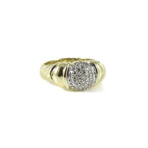 David Yurman David Yurman 18K Yellow Gold .50tcw Pave Diamond Capri Ring