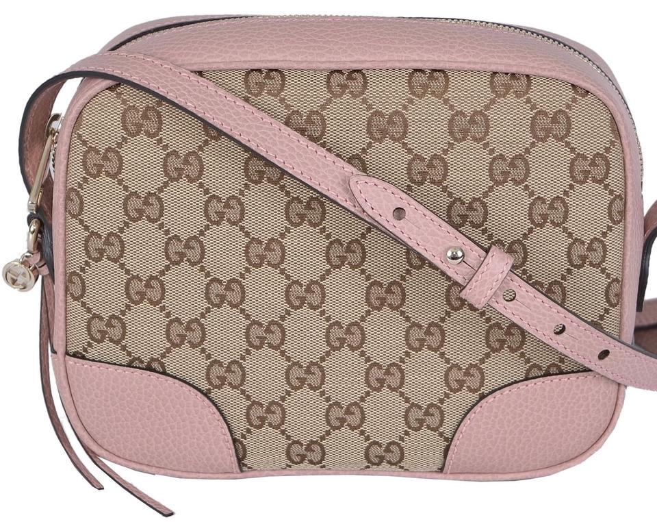 848ee640fbe Gucci Bree Disco Beige and Brown Gg Canvas Cross Body Bag - Tradesy