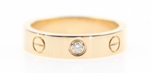 Cartier Mini Love 1 Diamond Rose Gold 4mm Band