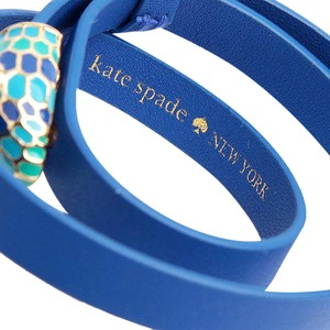 d71cf846969 Kate Spade New Kate Spade Spice Things Up Snape Wrap Bracelet Blue Leather