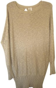 Studio Y Tan/Gold Flecks Oversize Dolman Sleeve Sweater