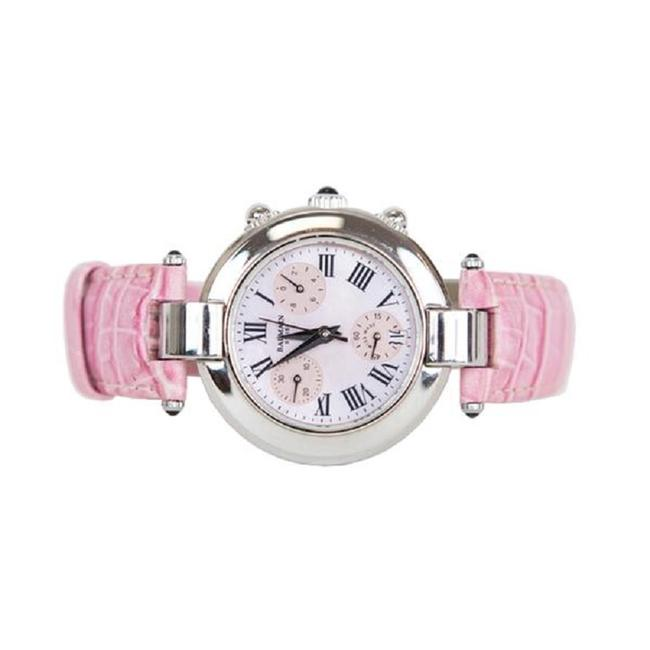 Item - Pink / Silver And Leather Watch