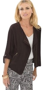Chico's Silk Bomber Brown Jacket