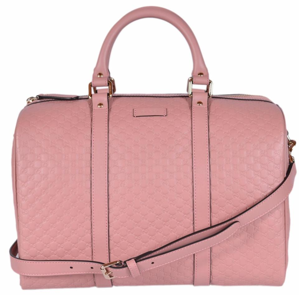 d0c2b9ede8 Gucci Boston New 449646 Micro Gg Guccissima Satchel Soft Pink Leather Cross  Body Bag 36% off retail