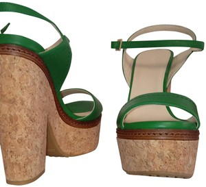 Jimmy Choo Green Platforms