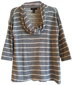 Style & Co Striped Knit Metallic Sparkle Comfortable Sweater