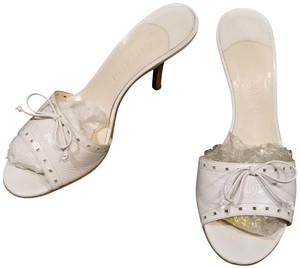 Chanel Soft Creamy white ivory open toe Chanel Slide Flats