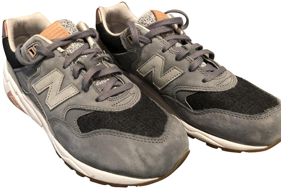 new style 31944 93197 New Balance Grey Nb 580 Suede Lowtop Sneakers Size US 8.5 Regular (M, B)