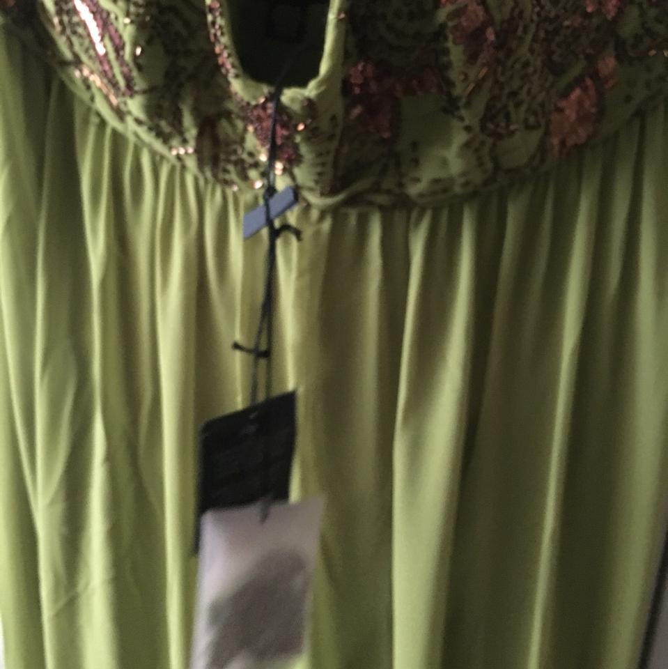 05d36fd9589f Ted Baker Green and Bronze Eltti Long Formal Dress Size 8 (M) - Tradesy