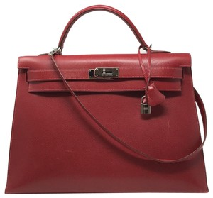 Hermès Leather Rare Satchel in Red
