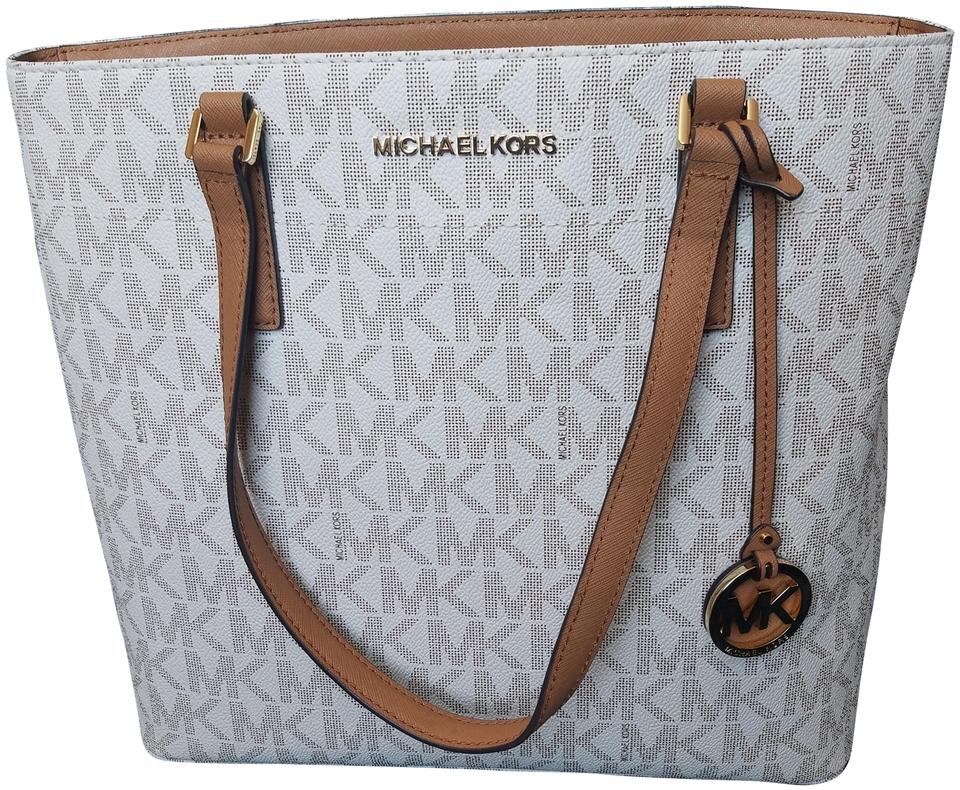 724820dbcc49 Michael Kors Morgan 38h6gogt2b 38h6g0gt2b Tote in Vanilla Image 0 ...