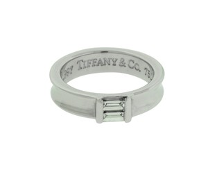 Tiffany & Co. White Gold Co Women's Diamond Band In Size 4.5 Ring
