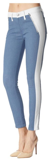 7 For All Mankind Multi-color Blue Coated Faux Leather Denim Pant Style No. Au0388370a Skinny Jeans Size 25 (2, XS) 7 For All Mankind Multi-color Blue Coated Faux Leather Denim Pant Style No. Au0388370a Skinny Jeans Size 25 (2, XS) Image 2