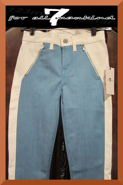 7 For All Mankind Multi-color Blue Coated Faux Leather Denim Pant Style No. Au0388370a Skinny Jeans Size 25 (2, XS) 7 For All Mankind Multi-color Blue Coated Faux Leather Denim Pant Style No. Au0388370a Skinny Jeans Size 25 (2, XS) Image 4