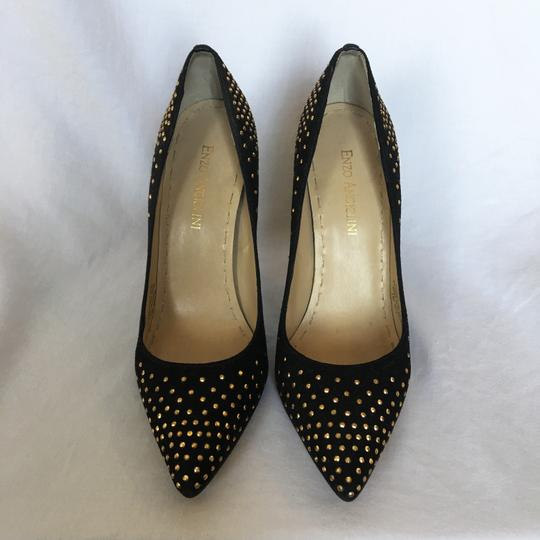 Enzo Angiolini Dressy Wedding Cocktail Special Event Gold Black Formal Image 2