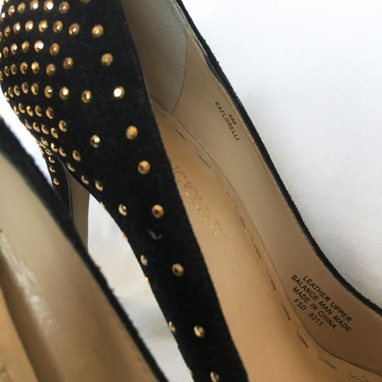 Enzo Angiolini Dressy Wedding Cocktail Special Event Gold Black Formal Image 4