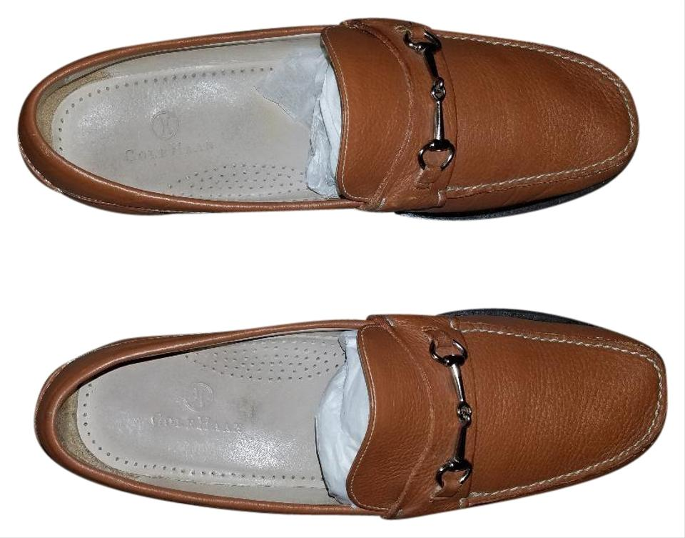 f687f6ce6f3 Cole Haan Brown Fairmont Horsebit Leather Loafer Cognac Flats Size ...