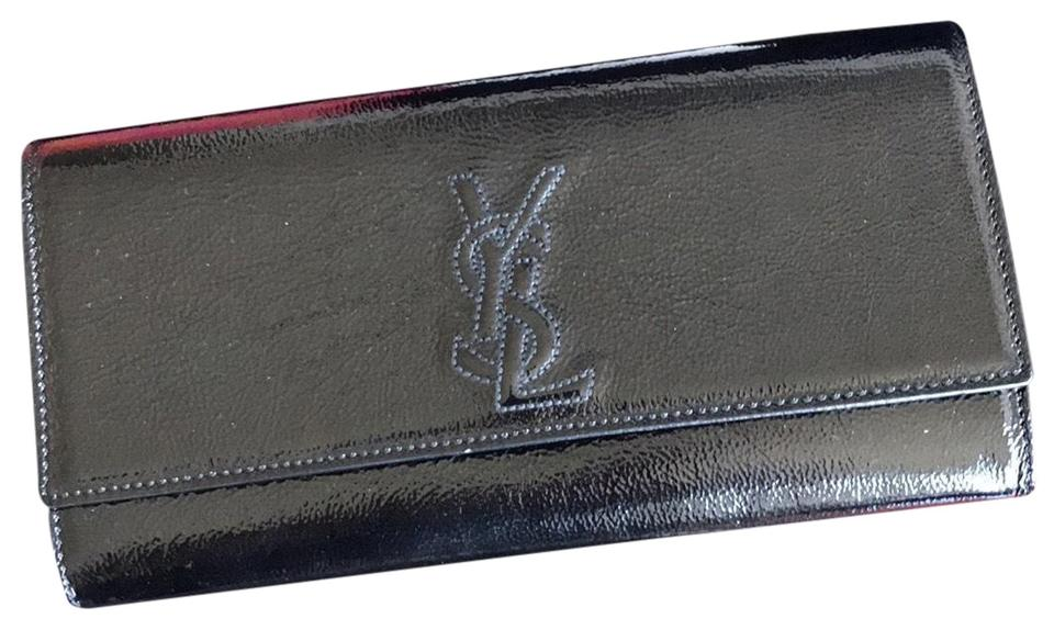 best place huge sale outlet for sale Saint Laurent Ysl Black Patent Leather Clutch 55% off retail