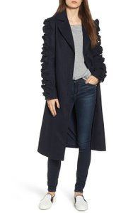 The Fifth Label Ruffled Sleeve Xs Anthropologie Pea Coat