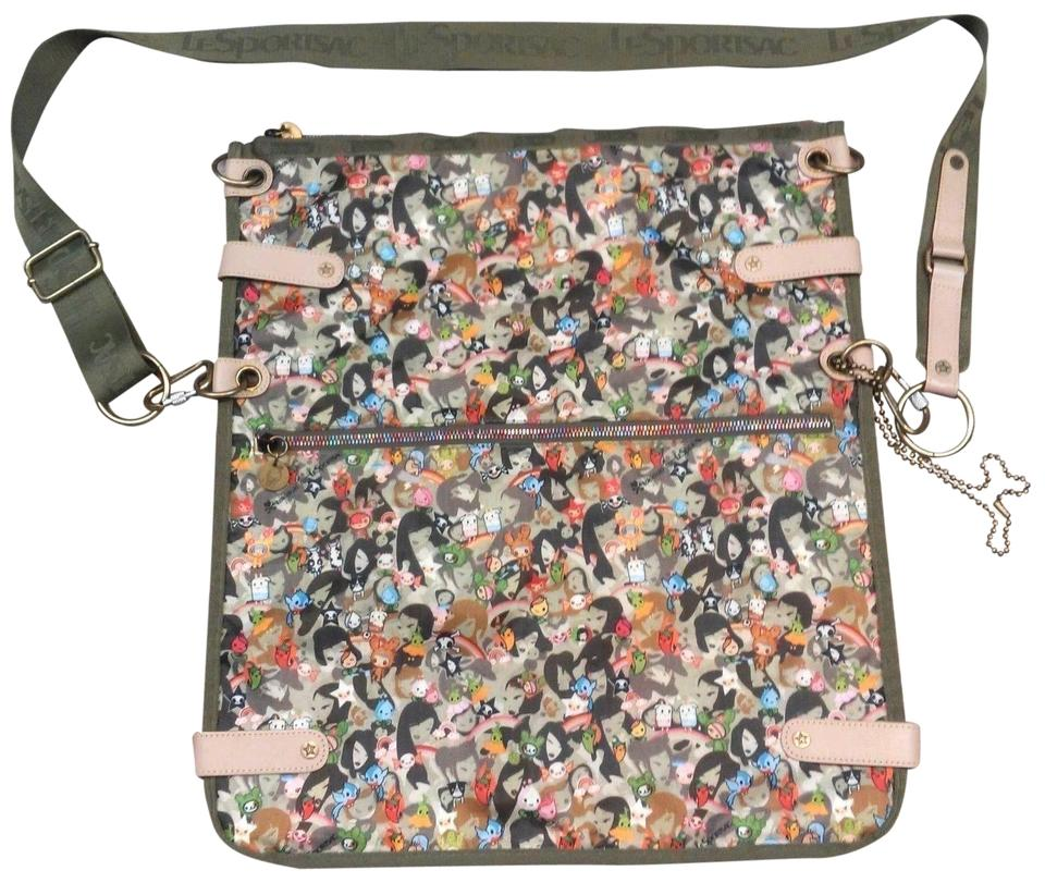 Tokidoki Anime Camoflauge Nylon Green Camo Messenger Bag