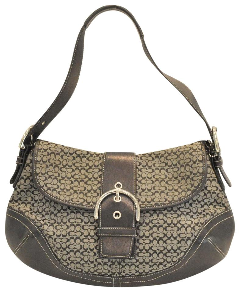 a797c79399 Coach Soho Jacquard and Leather Hobo Navy Canvas Shoulder Bag - Tradesy
