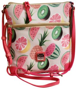 Dooney & Bourke Watermelon Pineapple Passion Fruit Satchel Cross Body Bag