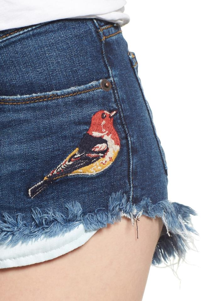 1ce006e94a STS Blue Embroidered Denim Shorts Size 4 (S, 27) - Tradesy