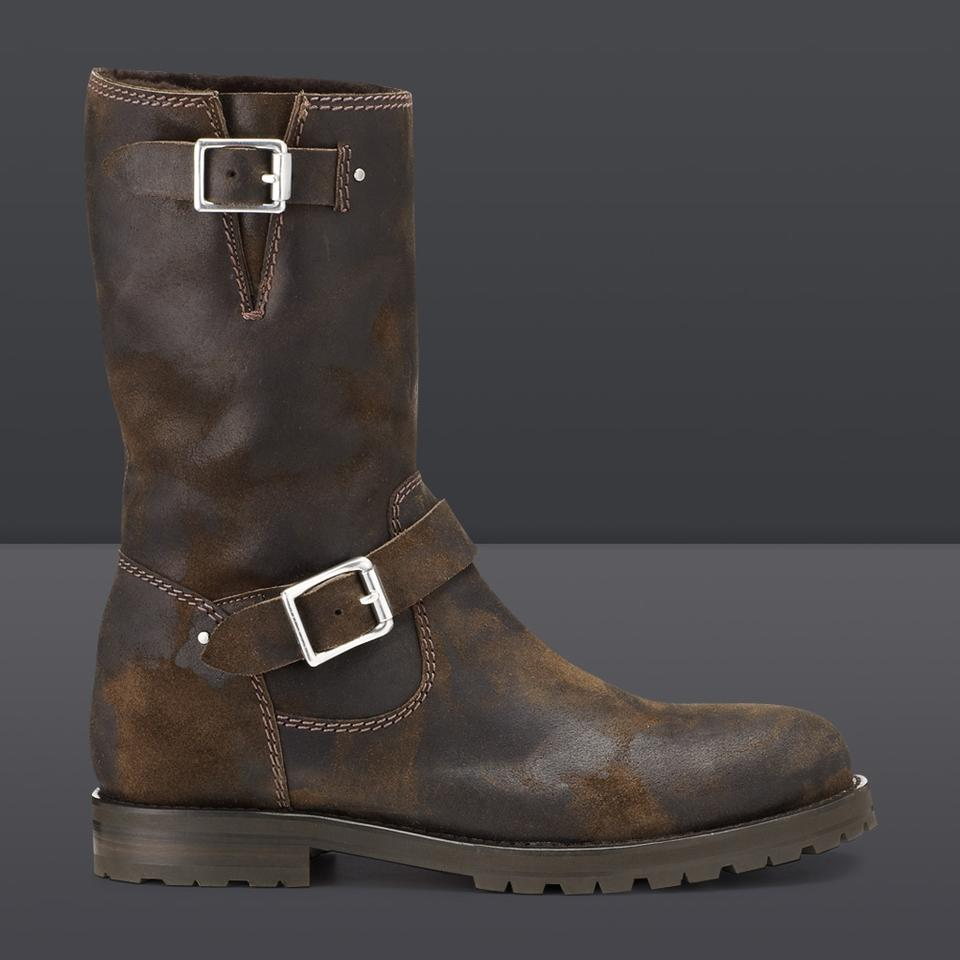 f63ef2ff15a Jimmy Choo Brown York (Mens) Rugged Boots Booties Size EU 43.5 ...