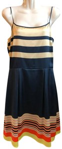 Daniel Cremieux Sleeveless Satin Silk Dress
