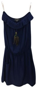 Karina Grimaldi short dress COBALT BLUE Strapless Spring Fall Night Out Date Night on Tradesy