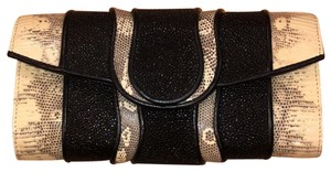 Khirma Eliazov Black and Cream Clutch