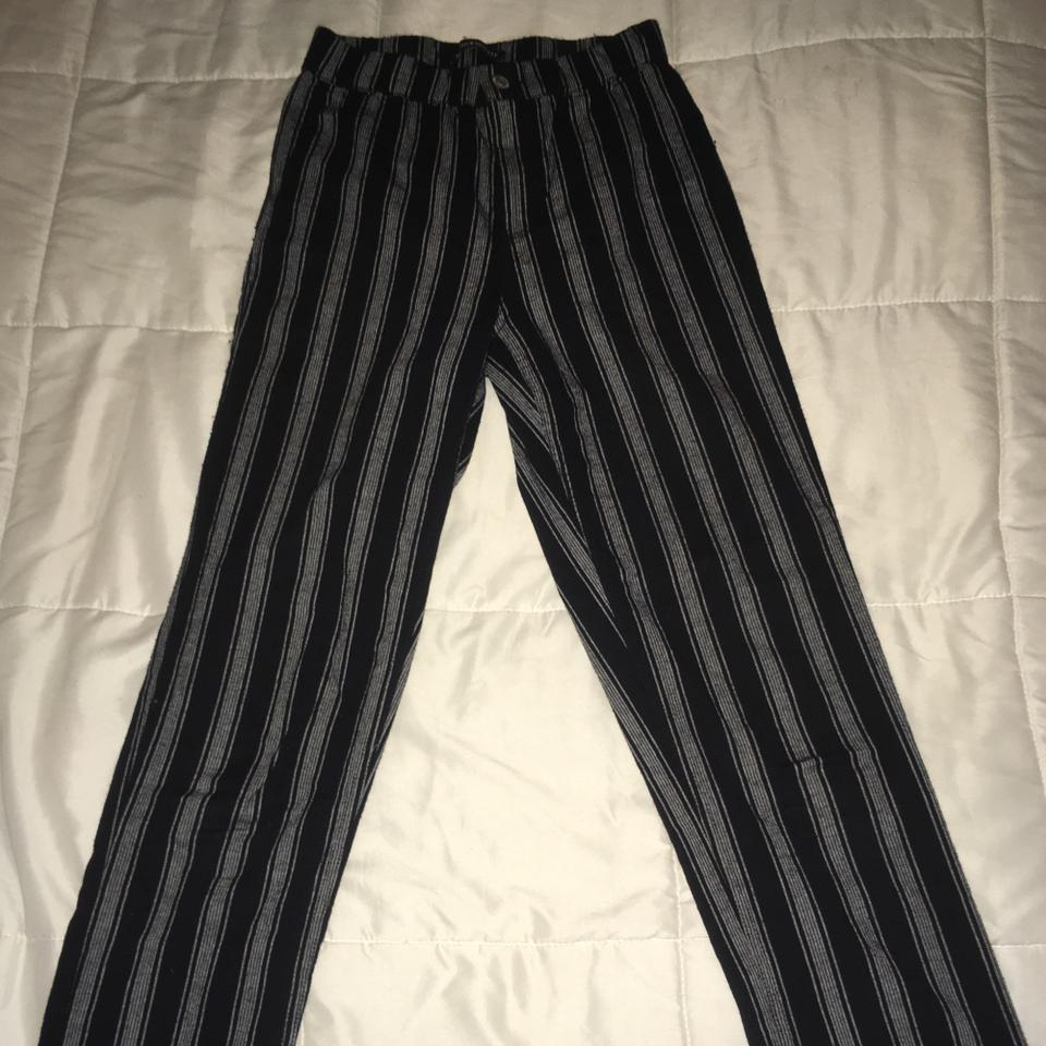Gray Black And White Bedroom: Black And Grey Striped Pants