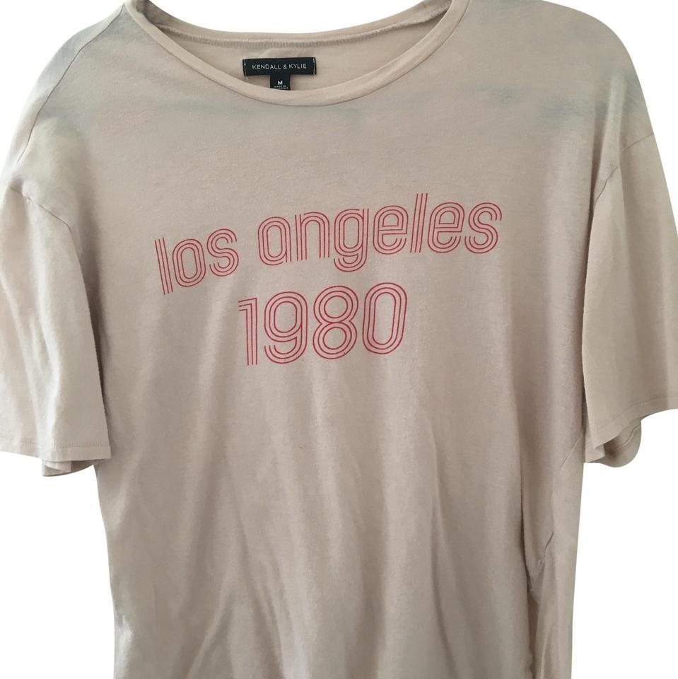 "1a0b8795c807 PacSun Tan and Red Graphic ""los Angeles"" Tee Shirt Size 8 (M) - Tradesy"