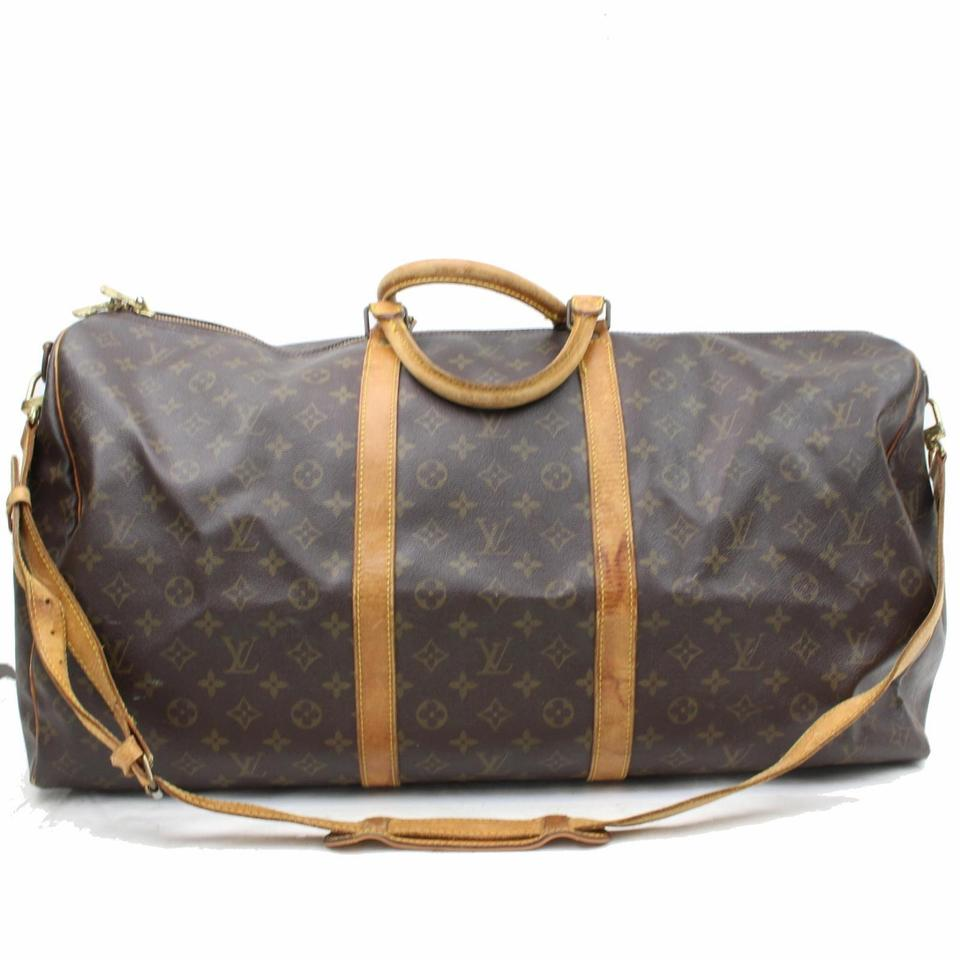 fdbeca0079e4 Louis Vuitton Bandouliere Keepall With Strap Duffle Carryall Duffle With Strap  Brown Travel Bag Image 0 ...