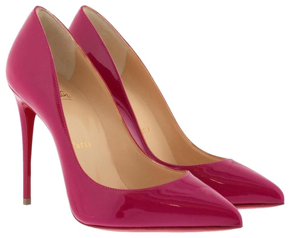 Christian Louboutin Ultra Rose Pigalle Follies 100 Patent Pointed toe Red Sole Pumps Size EU 36 (Approx. US 6) Regular (M, B)