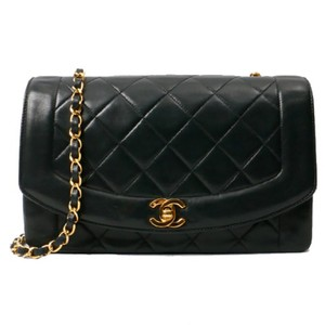 a839c3ef1b48 Chanel Vintage Lambskin Diana Flap Shoulder Bag