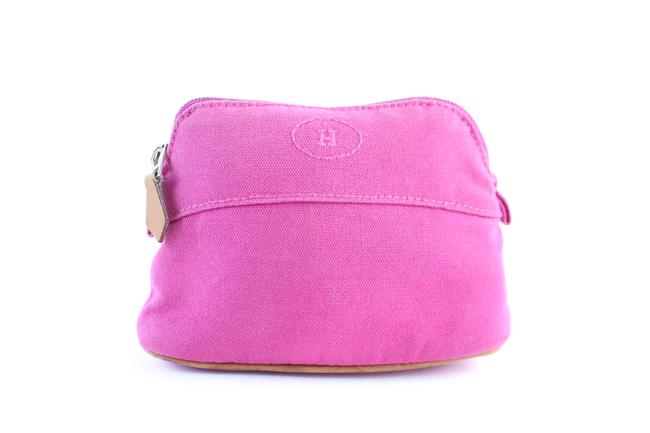 Item - Bolide Pouch 4hr0328 Pink Canvas Clutch