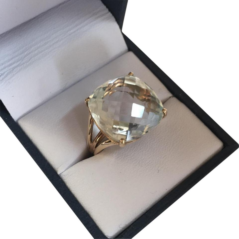 Well-known Pale Green Cushion Cut Prasiolite Ring - Tradesy VC77