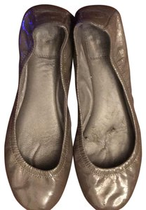 Tory Burch gray patent leather Flats