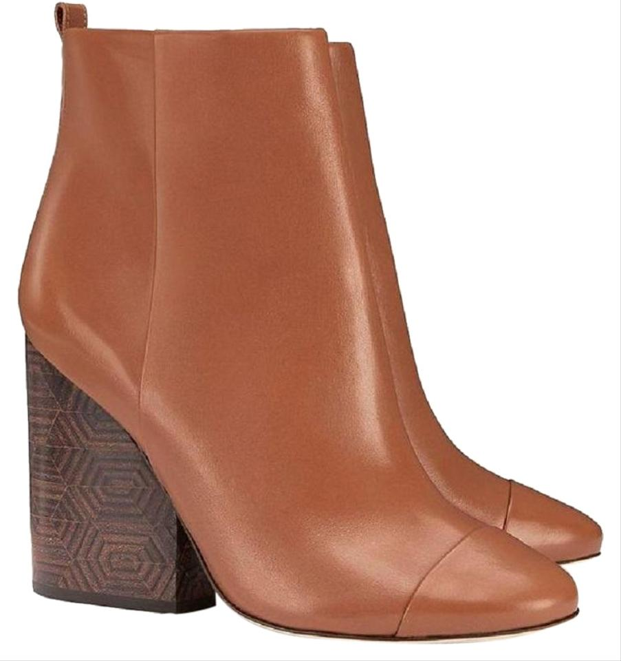 b8d6ac63056 Tory Burch Brown Grove 100mm Royal Tan Calf Leather Ankle Boots Booties