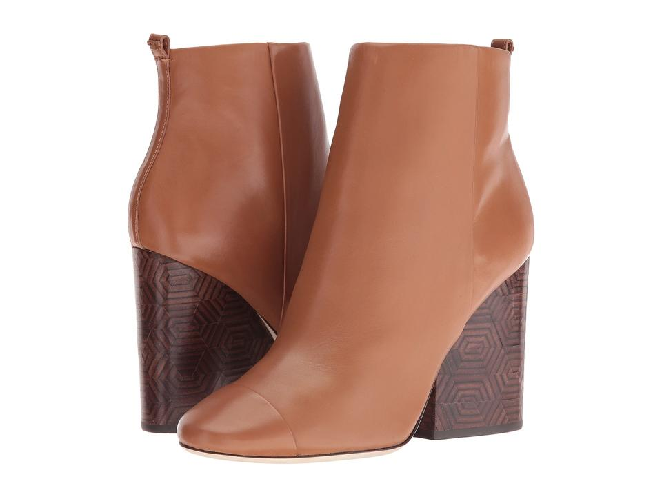 af632c382d1 Tory Burch Brown Grove 100mm Royal Tan Calf Leather Ankle Boots ...