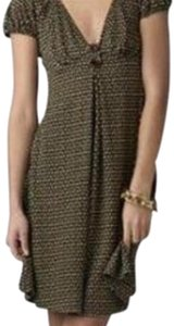 Diane von Furstenberg short dress Brown Babydoll V-neck on Tradesy