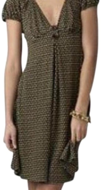 Preload https://img-static.tradesy.com/item/23123202/diane-von-furstenberg-brown-print-mid-length-short-casual-dress-size-8-m-0-4-650-650.jpg