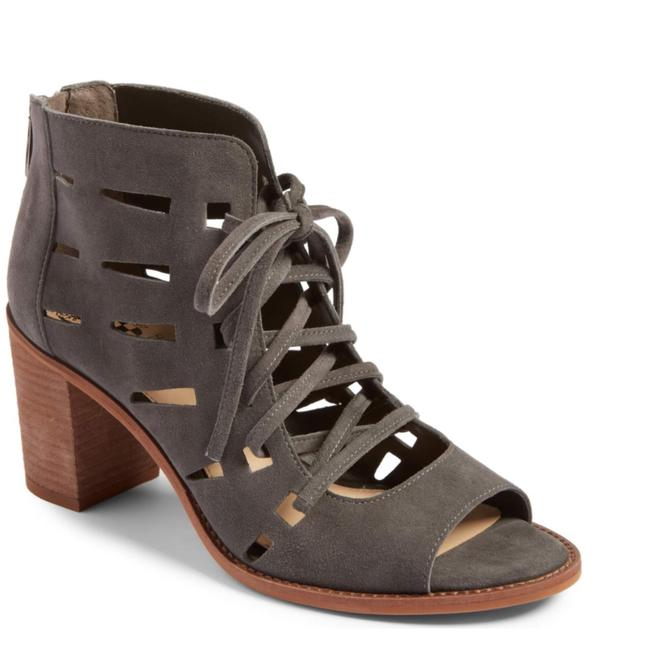 Item - Stone Taupe 37 Tressa Cutout Suede Sandal Boots/Booties Size US 5 Regular (M, B)