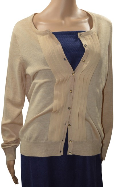Preload https://img-static.tradesy.com/item/23123301/talbots-brown-merino-wool-with-silk-trim-cardigan-size-12-l-0-1-650-650.jpg