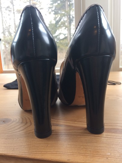 Massimo Dutti Leather Suede Heels For Pants Black and grey Pumps Image 2