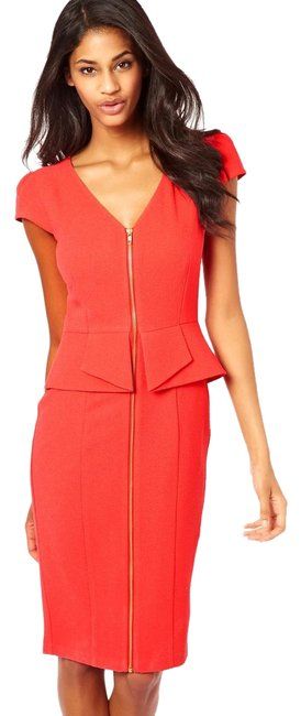 Preload https://img-static.tradesy.com/item/23123574/asos-coral-orange-textured-pencil-zip-front-mid-length-workoffice-dress-size-2-xs-0-1-650-650.jpg